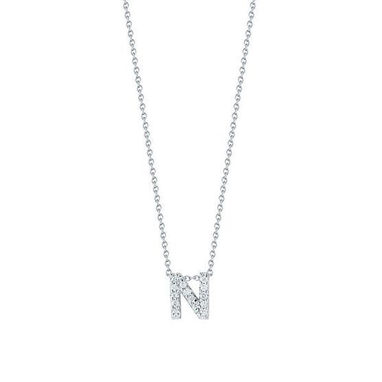 Roberto Coin Diamond Initial Pendant 18K Letter 'N'