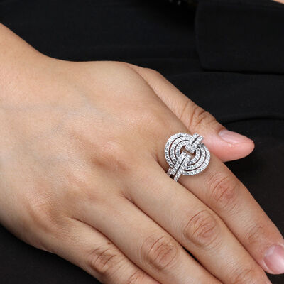 Triple Circle Diamond Ring 14K, 1.6 ctw.