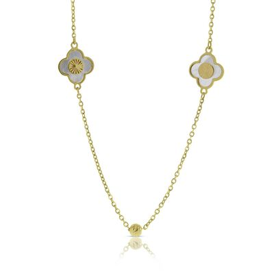 Toscano italian gold necklaces ben bridge jeweler toscano mother of pearl mosaic necklace 14k mozeypictures Gallery