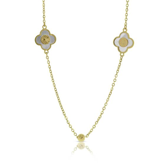 Toscano Mother of Pearl Mosaic Necklace 14K
