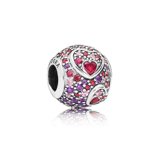 Pandora Asymmetric Hearts of Love CZ & Crystal Charm
