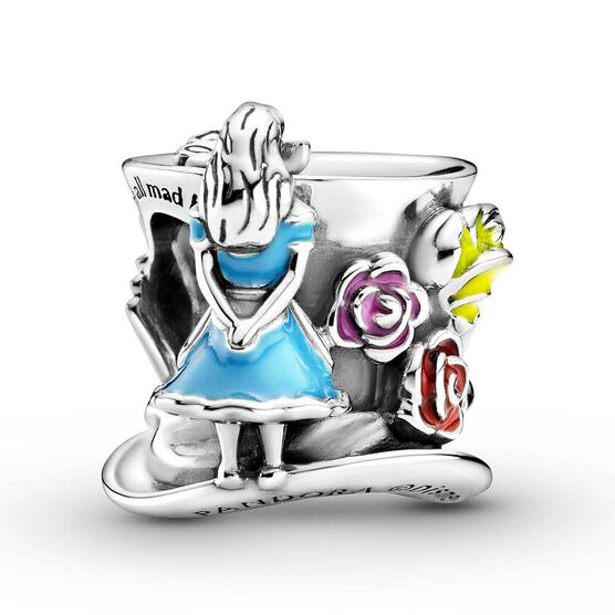 Pandora Disney Alice in Wonderland & The Mad Hatter's Tea Party Enamel Charm
