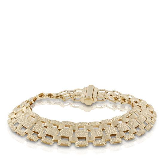 Toscano Diamond Cut Link Bracelet 18K