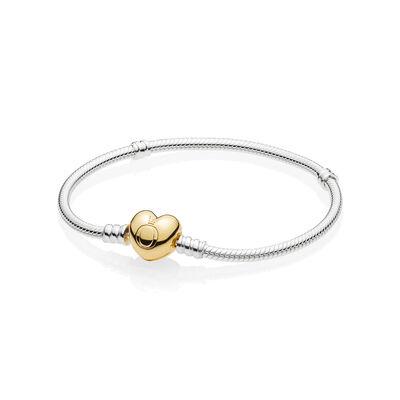 Pandora Shine™ Heart Clasp Silver Bracelet