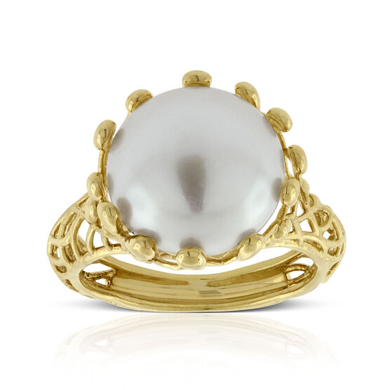 Freshwater Cultured Pearl Ring 14K