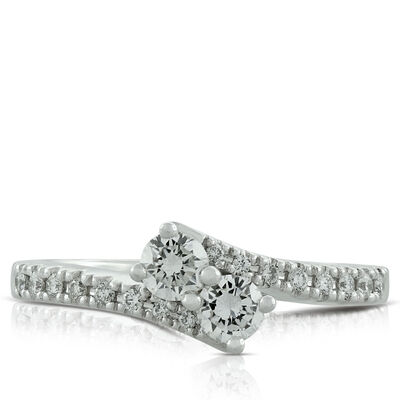 Perfectly Paired Diamond Ring, 14K, .46 ctw.