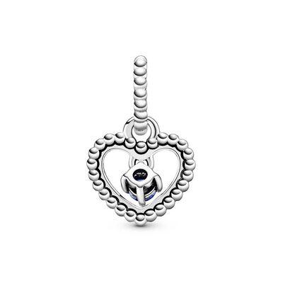 Pandora Sea Blue Crystal Beaded Heart Dangle Charm