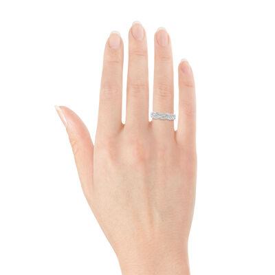 Braid Diamond Ring 14K