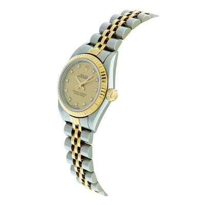 Pre-Owned Rolex Oyster Perpetual Lady Watch, 24mm, 18K & Steel