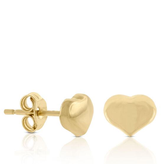 Roberto Coin Tiny Treasures Heart Earrings 18K