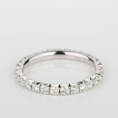 Diamond Eternity Band 14K, Size 6.5