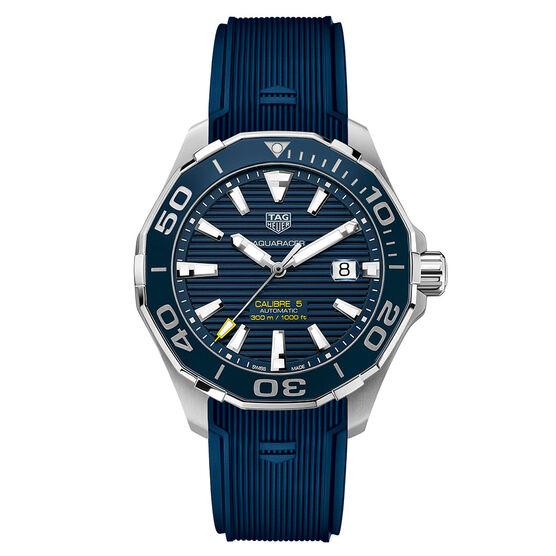 TAG Heuer Aquaracer Caliber 5 Blue Auto Watch 43mm