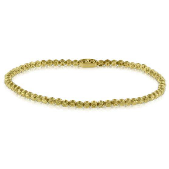 Sparkly Moon-Cut Bead Bracelet 14K