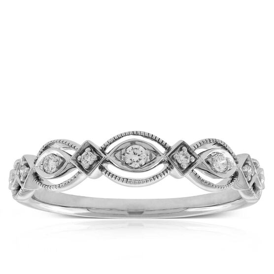 Scalloped Diamond Band 14K