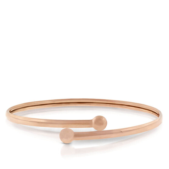Rose Gold Bypass Bangle 14K