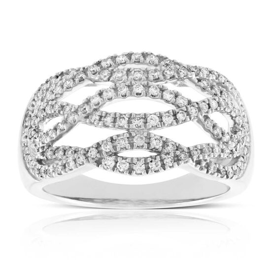 Interlocking Diamond Band 14K