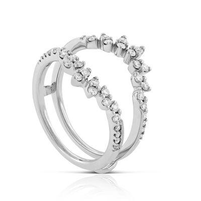 Sunburst Diamond Insert / Guard Ring 14K