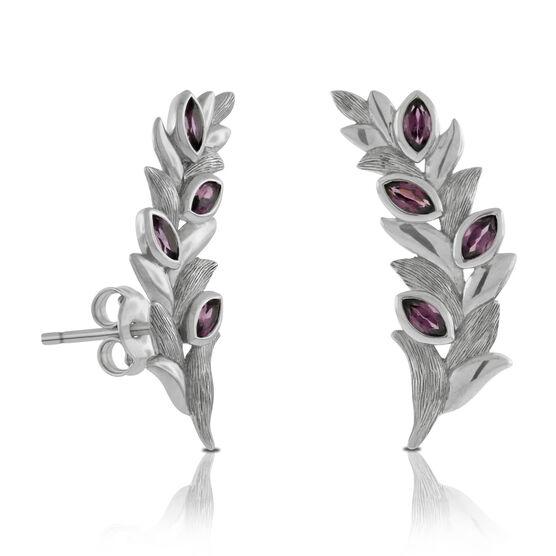 Lisa Bridge Rhodolite Garnet Petal Earrings