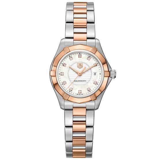 TAG Heuer Aquaracer Lady Steel & Rose Diamond Bezel Watch