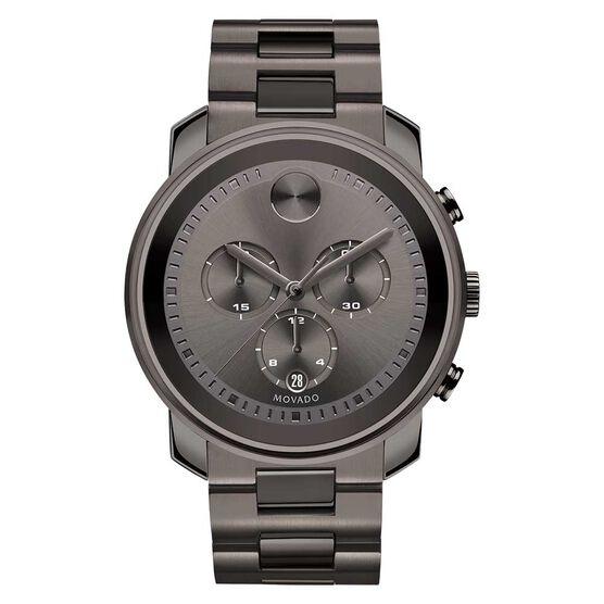 Movado Bold Grey Chronograph Gunmetal Ion Watch