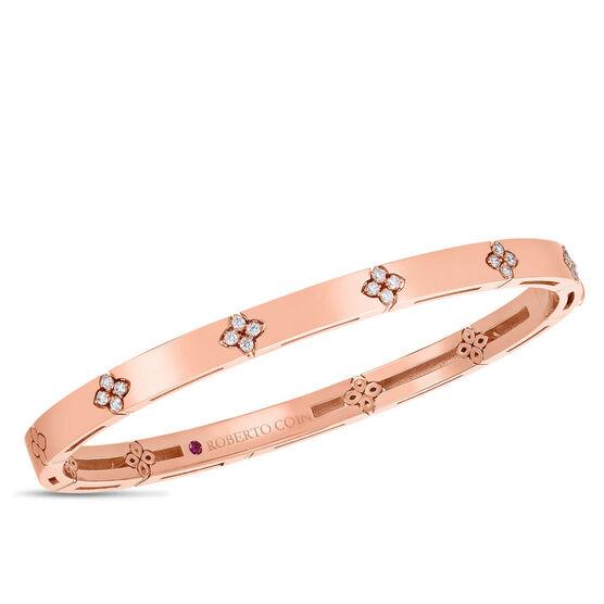 Rose Gold Roberto Coin Love In Verona Diamond Bangle 18K