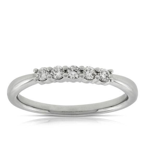 Diamond 5-Stone Band 14K, 1/5 ctw.