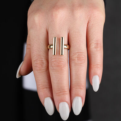Parallel Bars Ring 14K