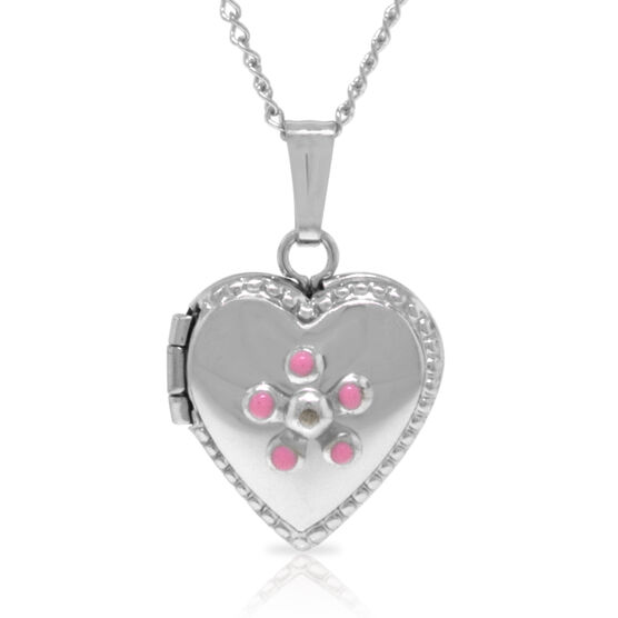 Baby Heart Locket in Sterling Silver