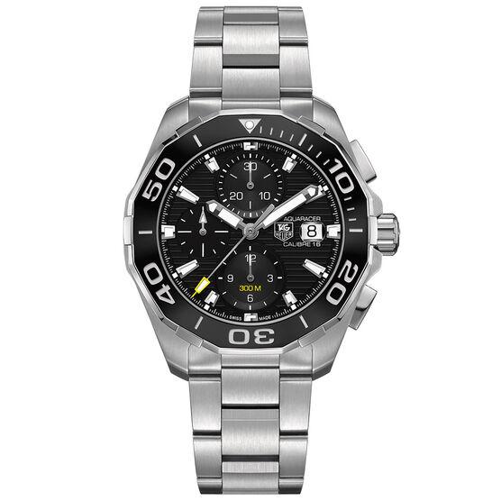 TAG Heuer Aquaracer Calibre 16 Automatic Mens Black Steel Chronograph Watch