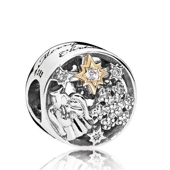 Pandora Celestial Wonders CZ Charm, Silver & 14K