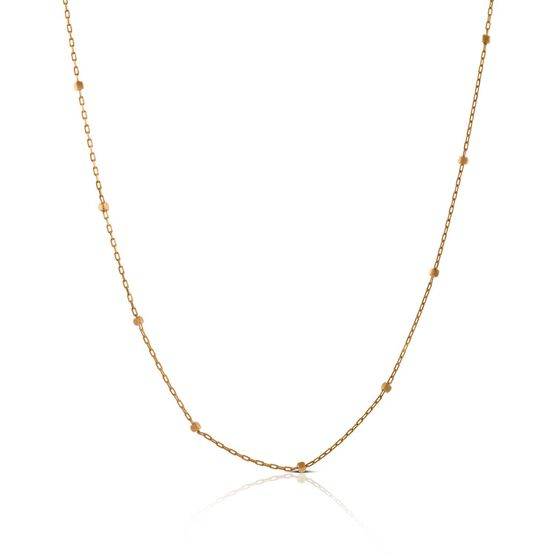 Rose Gold Cube Station Chain 14K, 18""