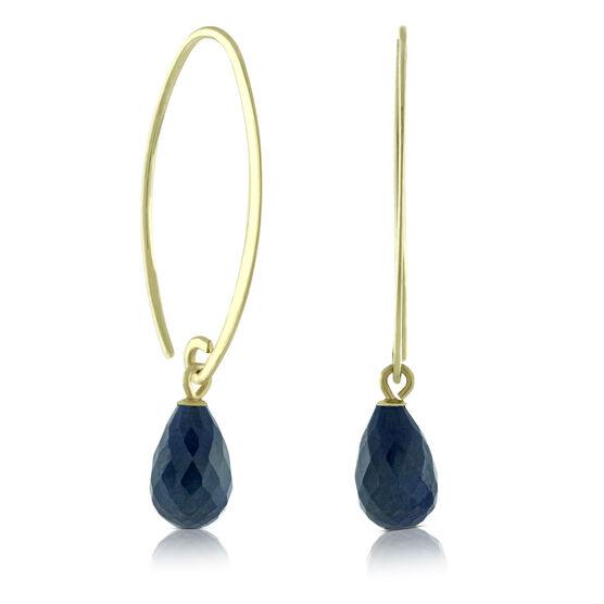 Briolette Sapphire Earrings 14K
