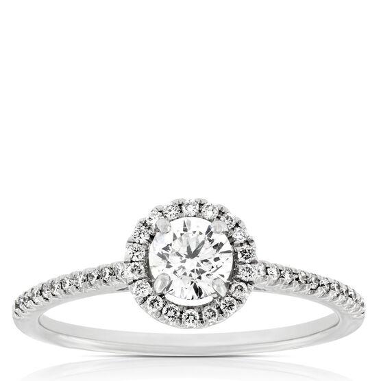 Ikuma Canadian Diamond Halo Ring 14K
