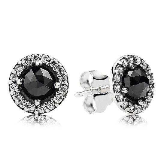 PANDORA Glamorous Legacy Earrings, Black Spinel