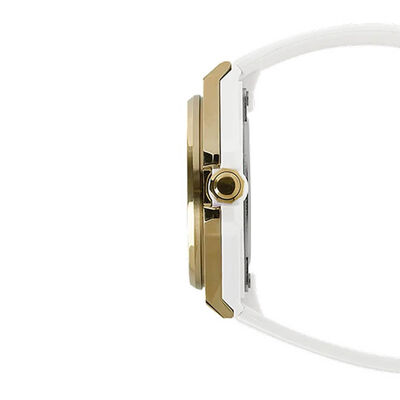 G-Shock G-MS White Strap Gold PVD Solar Watch, 42.4mm