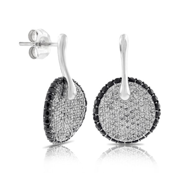 Roberto Coin Diamond & Black Sapphire Earrings 18K