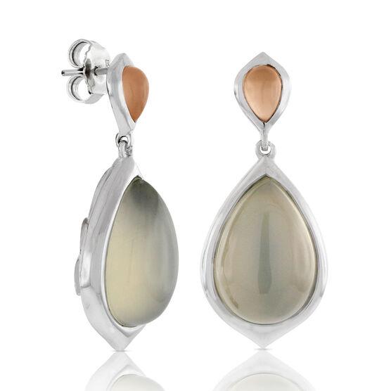 Moonstone Teardrop Earrings 14K