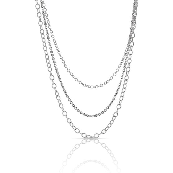 Lisa Bridge Three-Row Chain Necklace