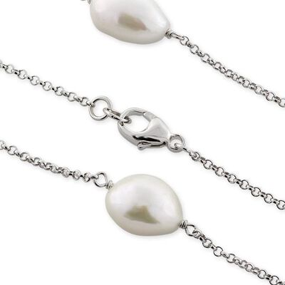 Freshwater Cultured Pearl Necklace in Sterling Silver