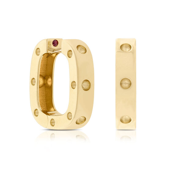 Roberto Coin Pois Moi Square Hoop Earrings 18K