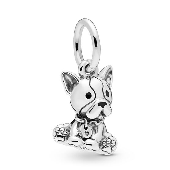 Pandora Bulldog Puppy Dangle Enamel Charm