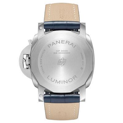 Panerai Luminor Marina Blue Dial Alligator Steel Watch, 44mm