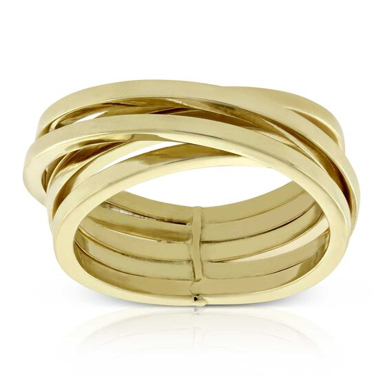 Toscano Crossover Ring 14K, Size 7