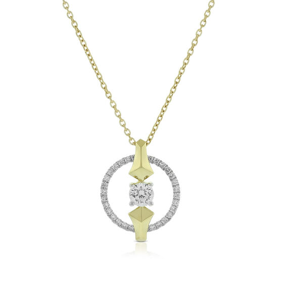 Jade Trau for Signature Forevermark Open Circle Diamond Necklace 18K