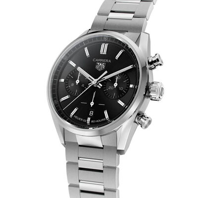 TAG Heuer Carrera Heuer 02 Automatic Mens Black Steel Chronograph Watch