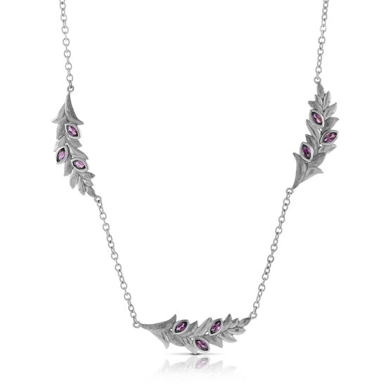 Lisa Bridge Rhodolite Garnet Petal Necklace