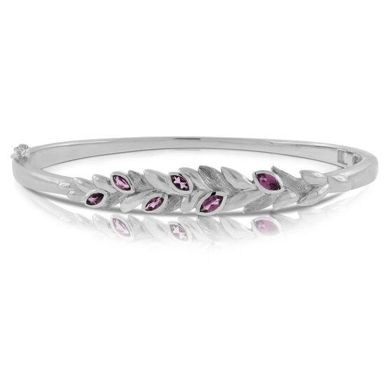 Lisa Bridge Rhodolite Garnet Petal Bracelet