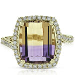 Ametrine & Diamond Ring  14K