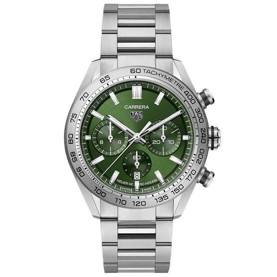 TAG Heuer Carrera Heuer 02 Automatic Mens Green Steel Watch