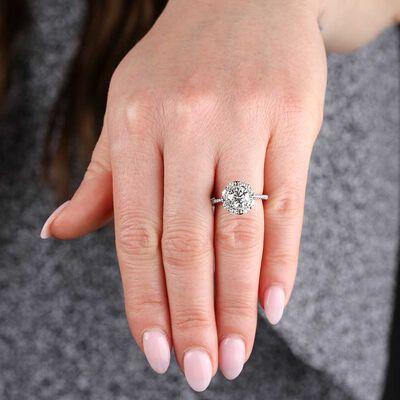 Signature Forevermark Diamond Halo Engagement Ring 18K